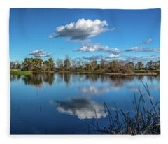 Wetlands Panorama  Fleece Blanket