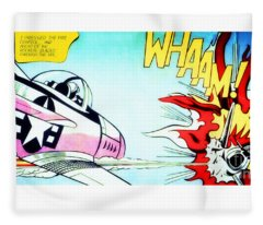 Whaam - Roy Lichtenstein  Fleece Blanket