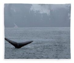 Whale Fluke Fleece Blanket