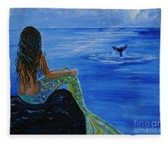 Whale Watcher Fleece Blanket