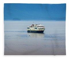 Whale Watching In Glacier Bay Fleece Blanket