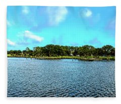 Whalehead Club Panorama Hdr Fleece Blanket