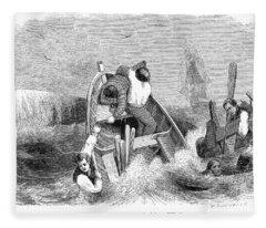 Whaling, C1830 Fleece Blanket