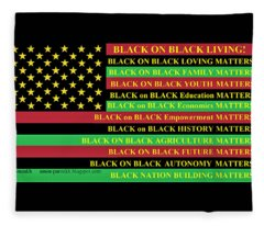 What About Black On Black Living? Fleece Blanket