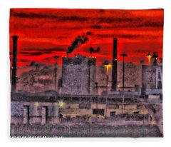 Port Of Savannah Fleece Blanket
