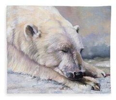 What Do Polar Bears Dream Of Fleece Blanket