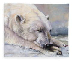 What Do Polar Bears Dream Of Fleece Blanket