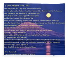 What If Our Religion Was Life Fleece Blanket
