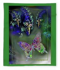 What  The  Butterfly  Saw Fleece Blanket