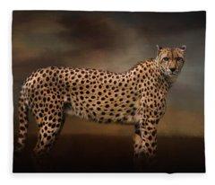 What You Imagine - Cheetah Art Fleece Blanket