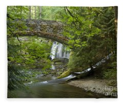 Whatcom Falls Bridge Fleece Blanket