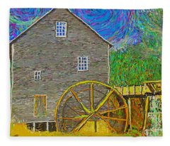 Water Wheel  Fleece Blanket