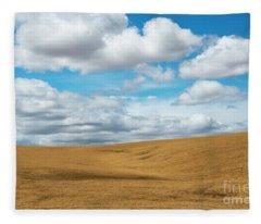 Wheat And Fleece Fleece Blanket