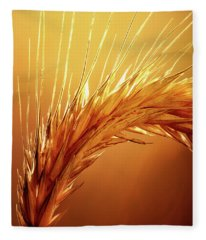 Wheat Close-up Fleece Blanket