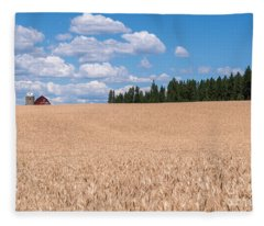 Wheat Fields Fleece Blanket