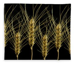 Wheat In A Row Fleece Blanket