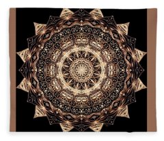 Wheel Of Life Mandala Fleece Blanket