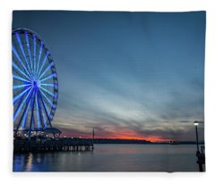 Wheel On The Pier Fleece Blanket