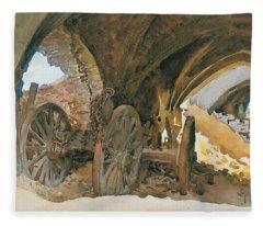 Wheels In Vault Fleece Blanket