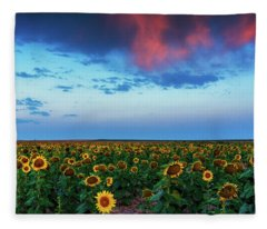 When Clouds Dance Fleece Blanket