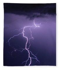 When Lightning Strikes Fleece Blanket
