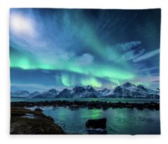 When The Moon Shines Fleece Blanket