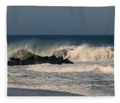 When The Ocean Speaks - Jersey Shore Fleece Blanket