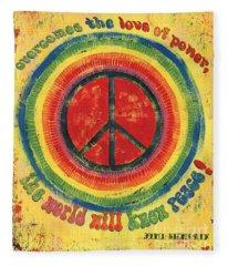 Peace Fleece Blankets
