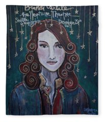 When The Stars Fall For Brandi Carlile Fleece Blanket