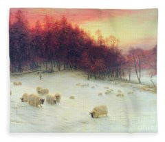 When The West With Evening Glows Fleece Blanket