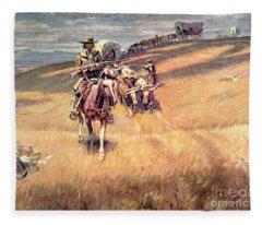 When Wagon Trails Were Dim Fleece Blanket