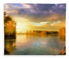 Where All The Rivers Run Wild Fleece Blanket