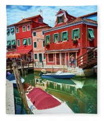 Where Did You Park The Boat? Fleece Blanket