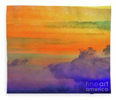 Where Rainbows Begin Fleece Blanket