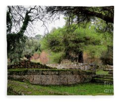 Where The First Olympics Took Place - Ancient Runis Of Olympia Fleece Blanket