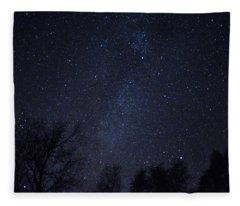 Where The Wind And The Coyotes Howl Fleece Blanket