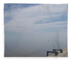 Where Water Meets Sky Fleece Blanket