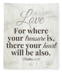Where Your Treasure Is- Art By Linda Woods Fleece Blanket