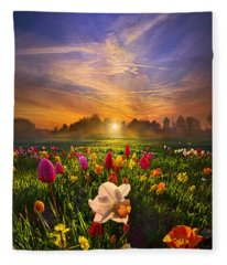 Wherever The Journey Takes Us Fleece Blanket
