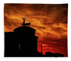 While Rome Burns Fleece Blanket