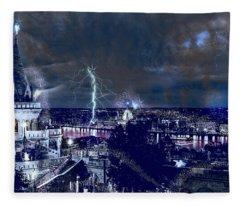 Whimsical Budapest Fleece Blanket