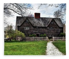 The John Whipple House In Ipswich Fleece Blanket
