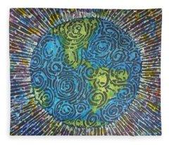 Whirled Piece Fleece Blanket