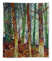 Whispering Forest Fleece Blanket