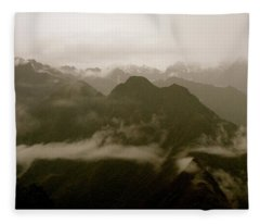 Whispers In The Andes Mountains Fleece Blanket