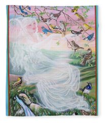 Whistling Angel-break Of Dawn   Fleece Blanket
