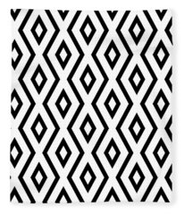 White And Black Pattern Fleece Blanket