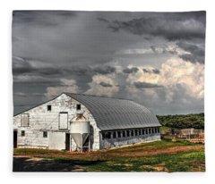 White Barn Fleece Blanket