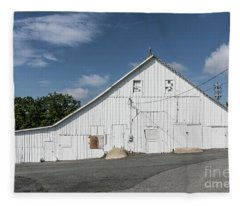 White Barn Fleece Blanket