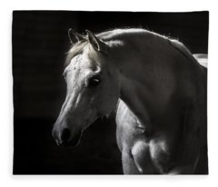 White Beauty Fleece Blanket